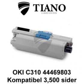 OKI C310 44469803 sort printerpatron (kompatibel)