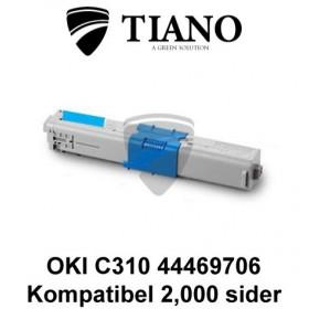OKI C310 44469706 cyan printerpatron (kompatibel)