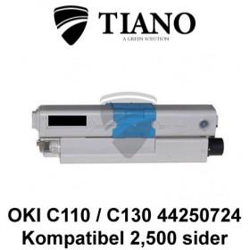 OKI C110 C130 44250724 sort printerpatron (kompatibel)