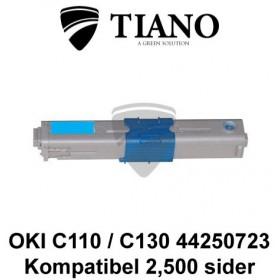 OKI C110 C130 44250723 cyan printerpatron (kompatibel)