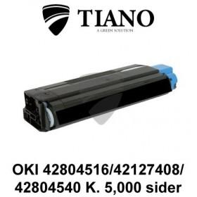 OKI 42804516 / 42127408 / 42804540 sort printerpatron (kompatibel)