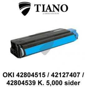 OKI 42804515 / 42127407 / 42804539 cyan printerpatron (kompatibel)