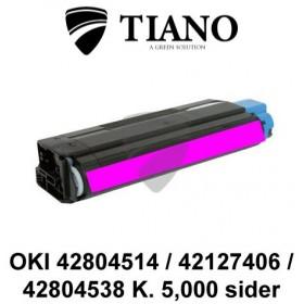 OKI 42804514 / 42127406 / 42804538 magenta printerpatron (kompatibel)