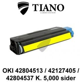 OKI 42804513 / 42127405 / 42804537 gul printerpatron (kompatibel)