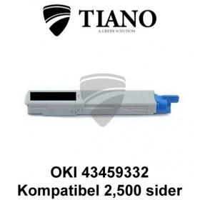 OKI 43459332 sort printerpatron (kompatibel)