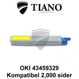 OKI 43459329 gul printerpatron (kompatibel)0