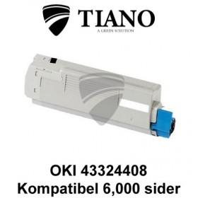 OKI 43324408 sort printerpatron (kompatibel)
