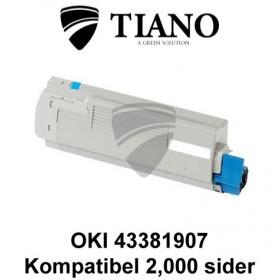 OKI 43381907 cyan printerpatron (kompatibel)
