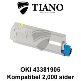 OKI 43381905 gul printerpatron (kompatibel)