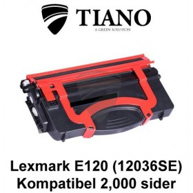Lexmark E120 (12036SE) sort printerpatron (kompatibel)
