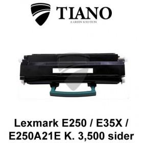 Lexmark E250 E35X (E250A21E) sort printerpatron (kompatibel)