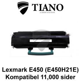 Lexmark E450 (E450H21E) sort printerpatron (kompatibel)