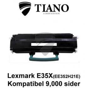 Lexmark E35X (EE352H21E) sort printerpatron (kompatibel)