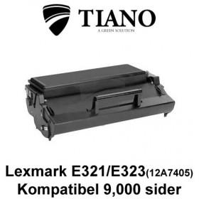 Lexmark E321/E323 (12A7405) sort printerpatron (kompatibel)