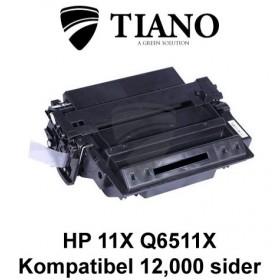 HP 11X Q6511X sort printerpatron (kompatibel)