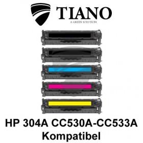 HP 304A CC530A - CC533A Multipakke BK+C+M+Y 4 stk (KOMPATIBEL)