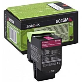 Lexmark ORIGINAL 802SM (80c2sm0) magenta toner 2.000 sider