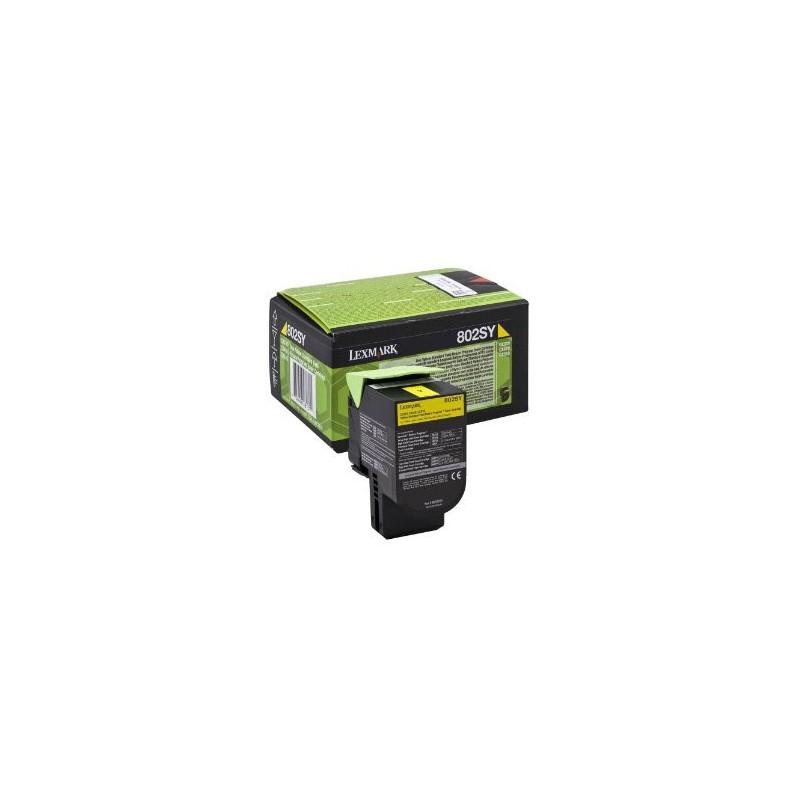 Lexmark ORIGINAL 802SY (80c2sy0) gul toner 2.000 sider