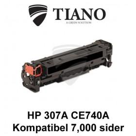HP 307A CE740A sort printerpatron (kompatibel)