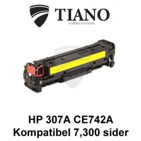 HP 307A CE742A gul printerpatron (kompatibel)
