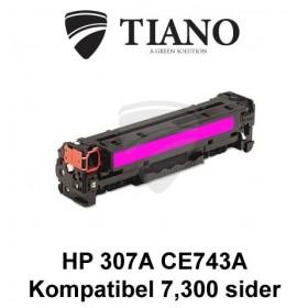 HP 307A CE743A magenta printerpatron (kompatibel)