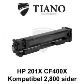 HP 201X CF400X sort printerpatron (kompatibel)