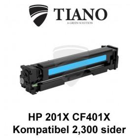 HP 201X CF401X cyan printerpatron (kompatibel)
