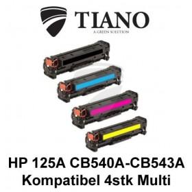 HP 125A CB540A - CB543A Multipakke BK+C+M+Y 4 stk (KOMPATIBEL)