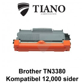Brother TN3390 sort printerpatron (kompatibel) 12,000 sider