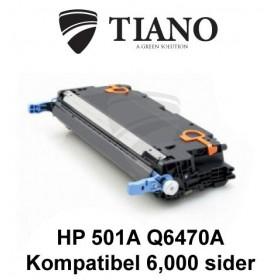 HP 501A Q6470A sort tonerpatron (kompatibel)