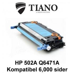 HP 502A Q6471A cyan tonerpatron (kompatibel)