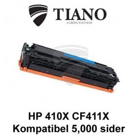 HP 410X CF411X cyan printerpatron (kompatibel)