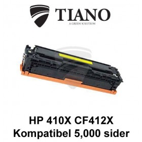 HP 410X CF412X gul printerpatron (kompatibel)