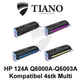 HP 124A Q6000A - Q6003A Multipakke BK+C+M+Y 4 stk (KOMPATIBEL)