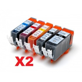 Canon PGI-520BK, CLI-521BK,C,M,Y RabatPakke 2 sæt 10 stk