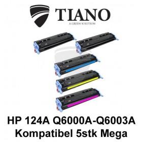 HP 124A Q6000A - Q6003A Megapakke 2xBK+C+M+Y 5 stk (KOMPATIBEL)