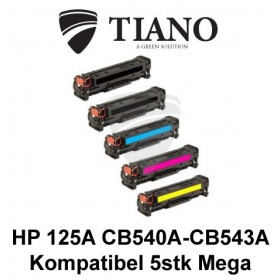HP 125A CB540A - CB543A Megapakke 2xBK+C+M+Y 5stk (KOMPATIBEL)