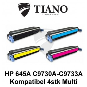 HP 645A C9730A - C9733A Multipakke BK+C+M+Y 4 stk (KOMPATIBEL)