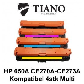HP 650A CE270A - CE273A Multipakke BK+C+M+Y 4 stk (KOMPATIBEL)