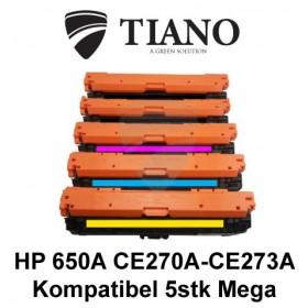 HP 650A CE27A - CE273A Megapakke 2xBK+C+M+Y 5 stk (KOMPATIBEL)