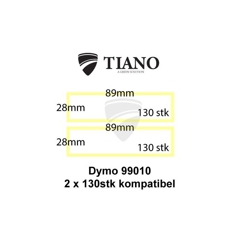Dymo Adresseetiketter 99010 89x28mm 260 stk kompatibel Etiketter