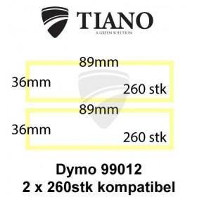 Dymo Adresseetiketter 99012 89x36mm 520 stk kompatibel Etiketter