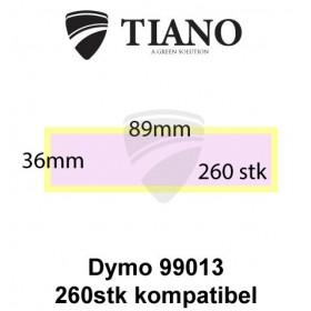 Dymo Adresseetiketter 99013 Transparent 89x36mm 260 stk kompatibel Etiketter