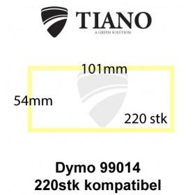 Dymo forsendelseslabel 99014 101x54mm 220 stk kompatibel Etiketter