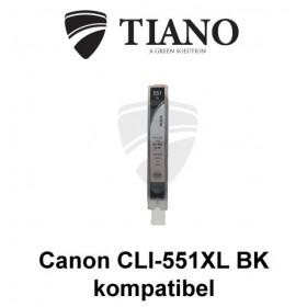 Canon CLI-551XL BK sort kompatibel blæk