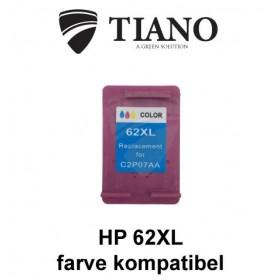 HP 62XL trefarvet blækpatron kompatibel