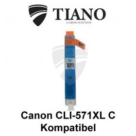 Canon CLI-571XL C cyan kompatibel blæk