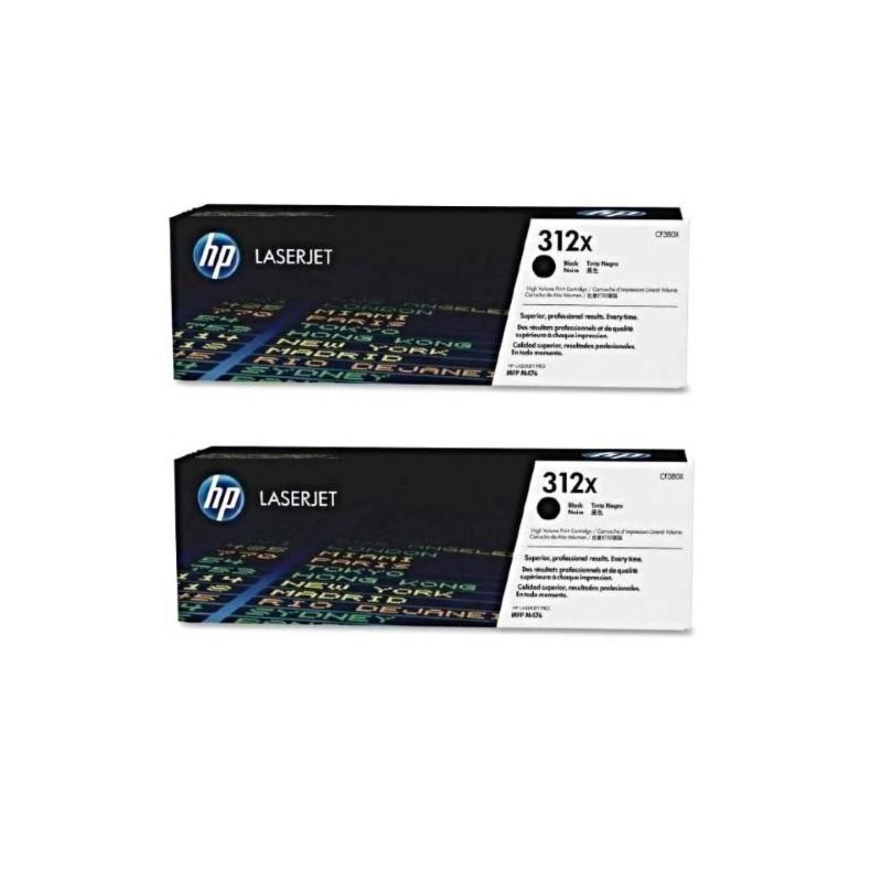 ORIGINAL HP 312X CF380X sort printerpatron