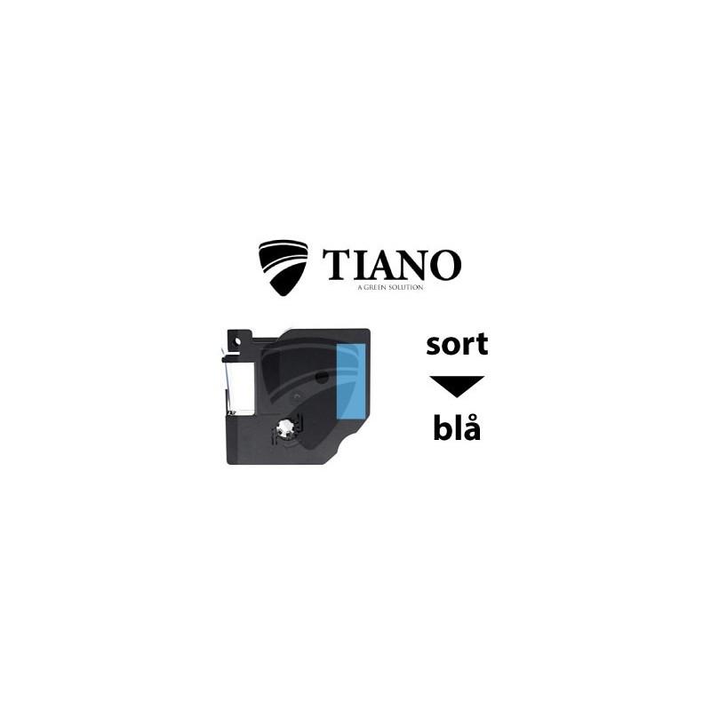 Dymo D1 standardtape 40913 9mm*7m Sort på Hvid label kompatibel