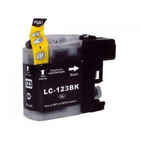 Brother LC123BK LC121BK sort kompatibel blæk 16ml